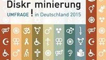 """Logo der Umfrageaktion: """"Diskriminierung in Deutschland 2015"""""""