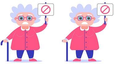 Frau Rente Seniorin Schild Protest