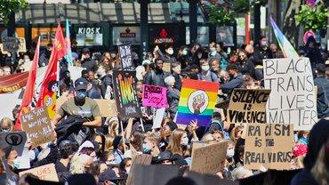 Demonstration Black lives matter Rassismus Protest Nazi