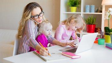 Homeoffice Mutter Kind Kinder Corona Stress Vereinbarkeit